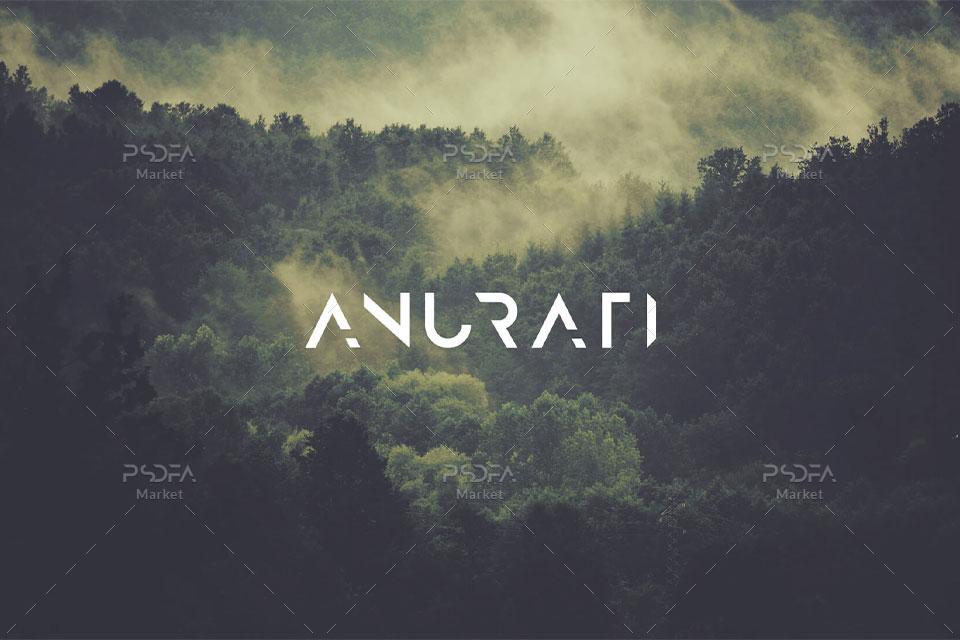 فونت انگلیسی فوق العاده زیبا و جذاب Anurati