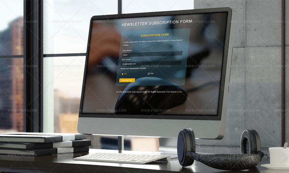 قالب html فرم عضویت و اشتراک در خبرنامه برای سایت