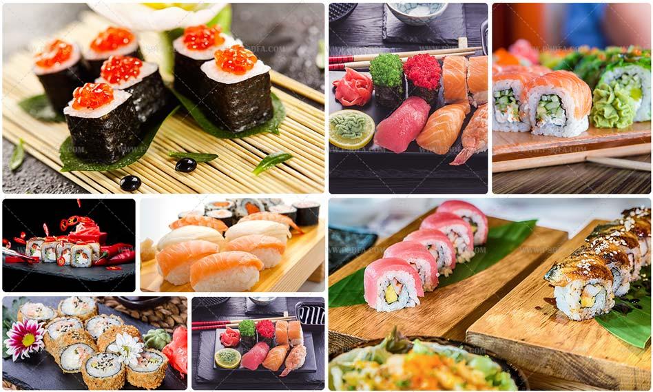 مجموعه ۷ تصویر استوک از غذای سوشی اشتها آور با کیفیت بالا
