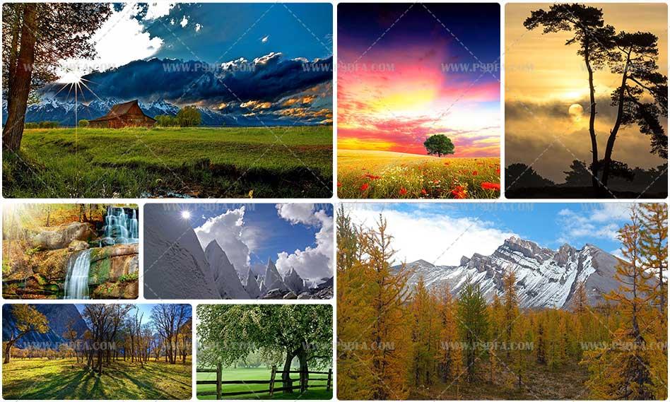 مجموعه ۱۰۰ والپیپر و تصویر زمینه منظره و طبیعت با کیفیت Full HD