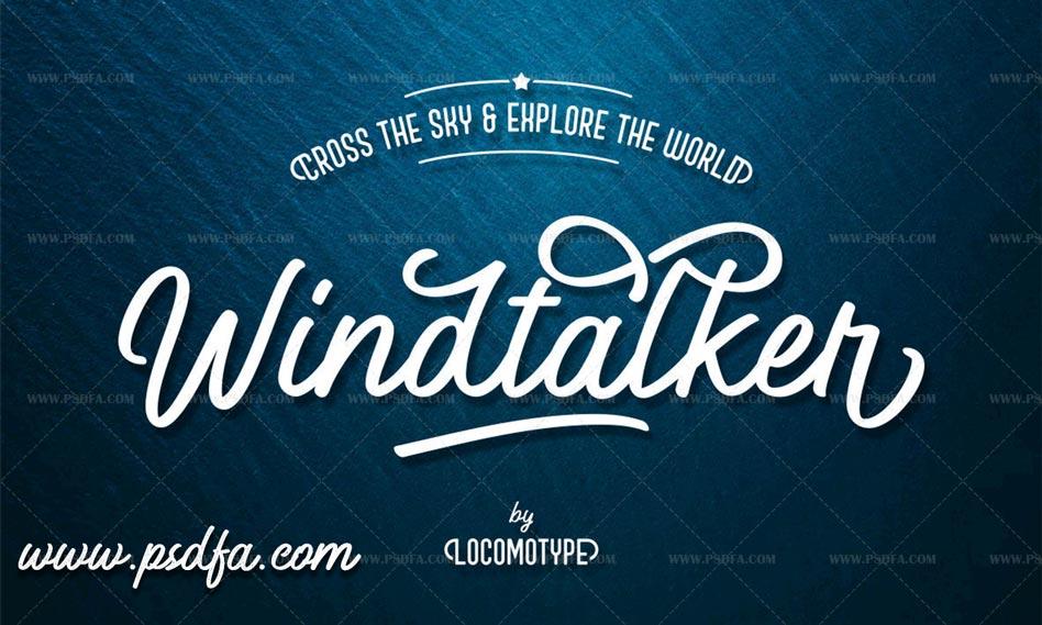 دانلود مجموعه فونت انگلیسی Windtalker Font Family مناسب برای طراحی گرافیکی