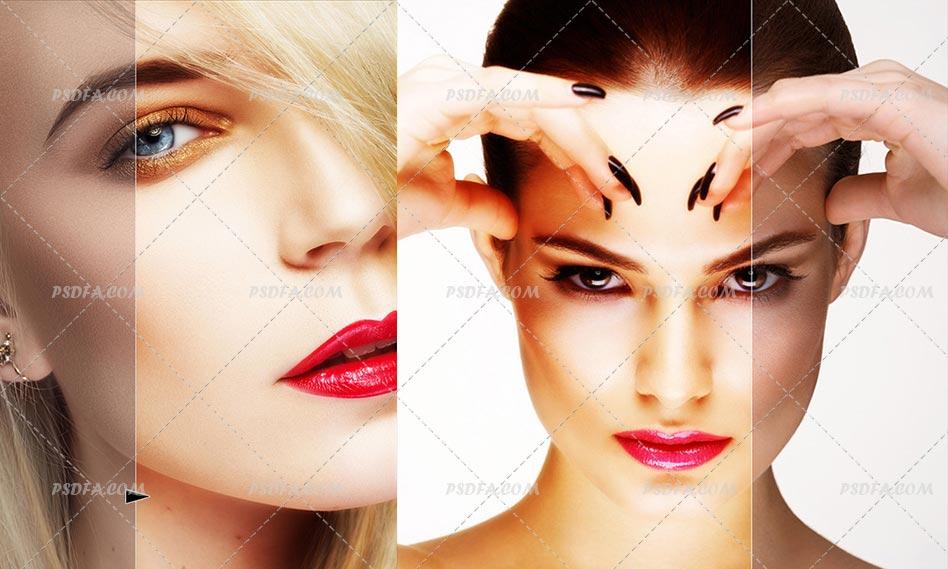 شفاف و روشن کردن رنگ پوست در فتوشاپ با اکشن Glow Skin