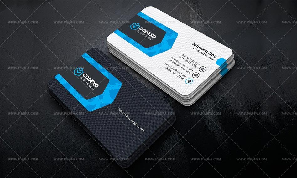 دانلود طرح لایه باز کارت ویزیت شیک و مدرن با رنگ بندی مختلف برای فتوشاپ