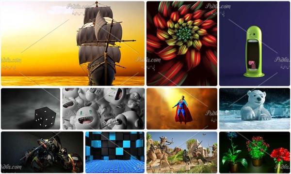 دانلود مجموعه ۱۰۰ والپیپر و تصویر زمینه گرافیکی کامپیوتری با کیفیت بالا – سری دوم