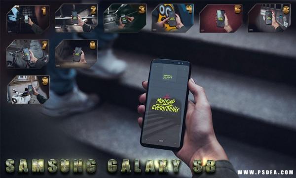 10 فایل لایه باز موکاپ و پیش نمایش موبایل Galaxy S8 به همراه راهنمای تصویری