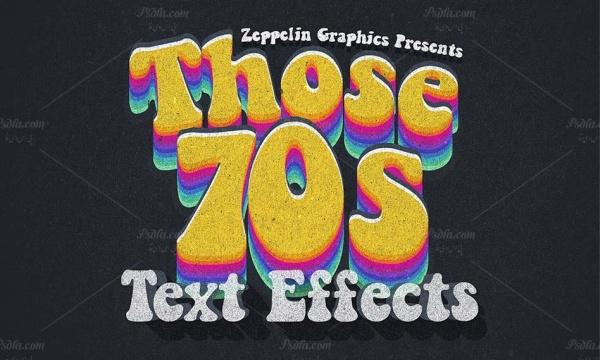 70 استایل و افکت متن فوق العاده زیبا با بافت گرانج برای فتوشاپ