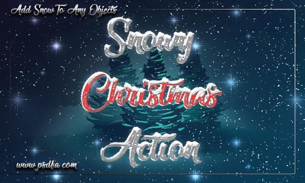 اکشن ایجاد افکت برف و کریسمس بر روی تصاویر در فتوشاپ + آموزش تصویری