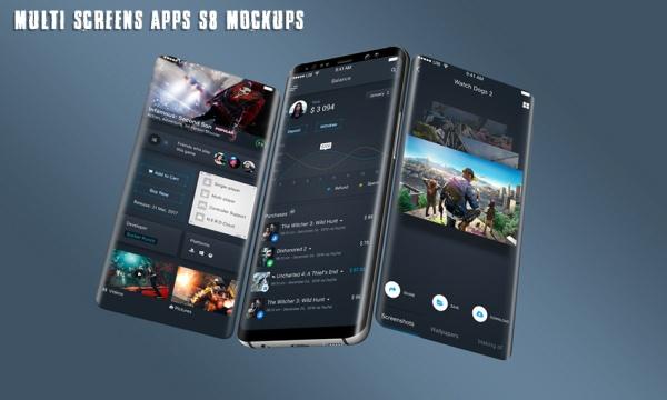 مجموعه 6 طرح لایه باز موکاپ گلکسی S8 با فرمت psd + فیلم آموزشی