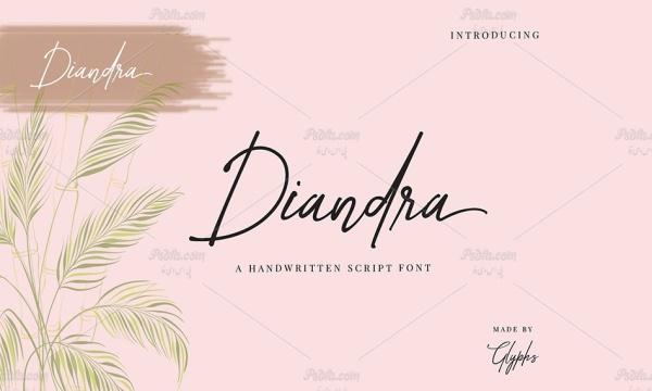 فونت انگلیسی فوق العاده زیبای امضاء Diandra Signature font