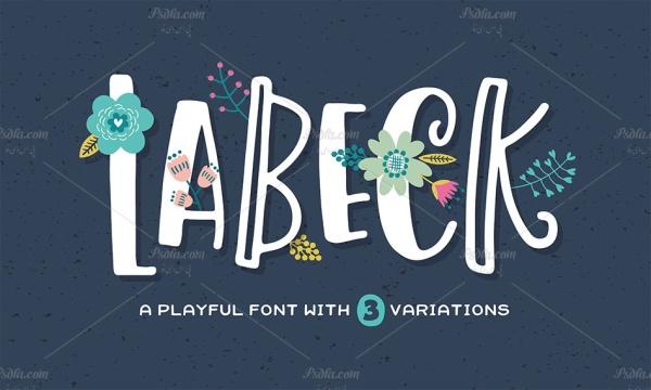 فونت انگلیسی Labeck مناسب جهت استفاده در طراحی و گرافیک