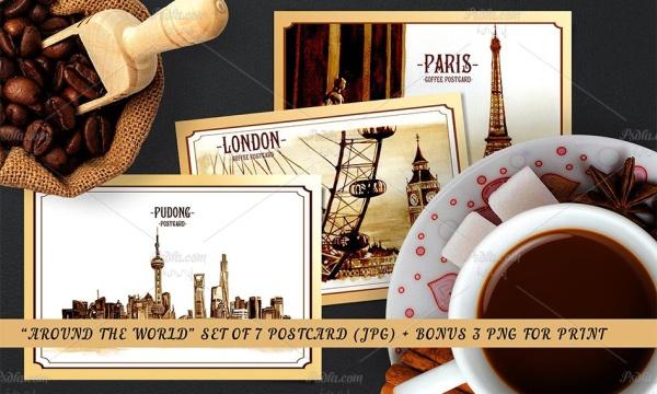 طرح های هنری از مکان های معروف جهان مناسب برای طراحی پوستر و کارت پستال