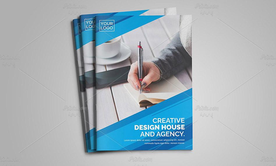 طرح لایه باز بروشور دو لت حرفه ای شرکتی با فرمت PSD