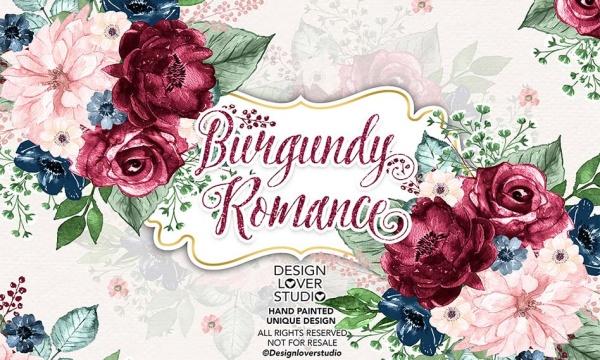 مجموعه طرح گل رز رمانتیک آبرنگی مناسب برای طرح های گرافیکی