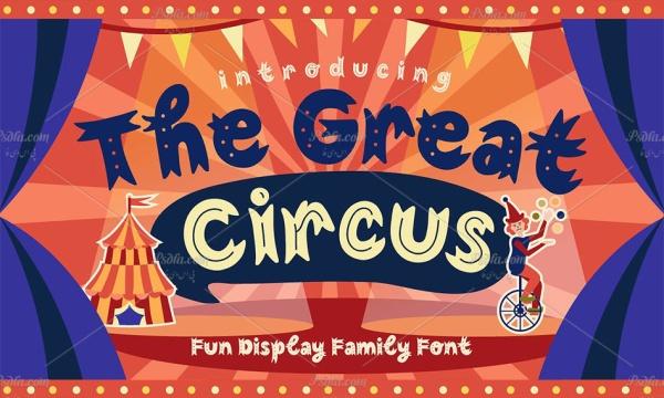 فونت انگلیسی فانتزی و کارتونی سیرک بزرگ The Great Circus Font
