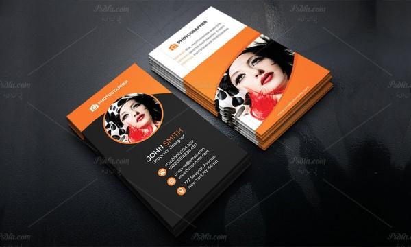 کارت ویزیت آتلیه و عکاسی به صورت لایه باز برای فتوشاپ با فرمت PSD