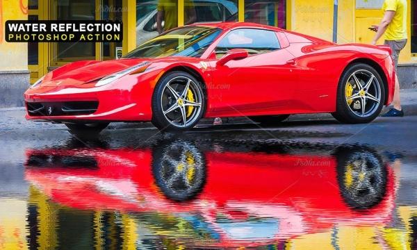 ایجاد افکت انعکاس تصاویر در آب با اکشن فتوشاپ Water Reflection