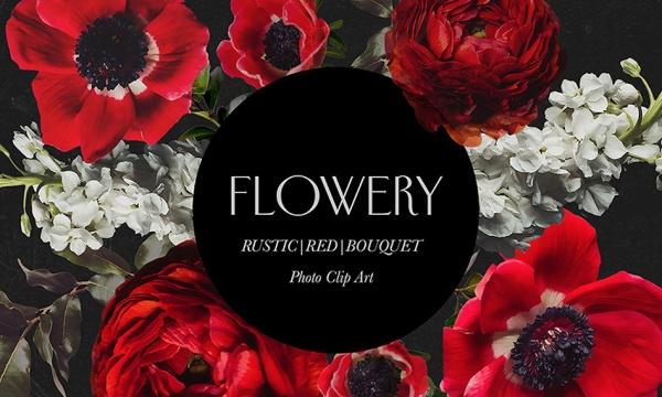 مجموعه گل و دسته گل قرمز دوربری شده بدون بک گراند با فرمت PNG