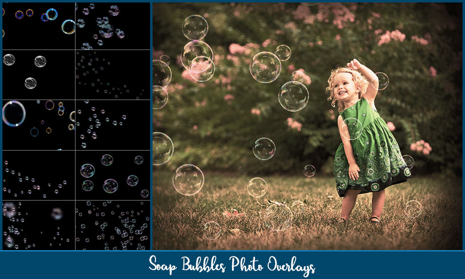 مجموعه افکت حباب بر روی عکس و تصاویر با کیفیت بالا برای فتوشاپ