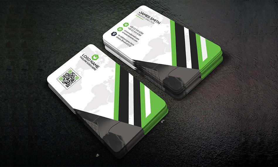 فایل لایه باز کارت ویزیت شرکتی قابل استفاده و ویرایش در نرم افزار فتوشاپ
