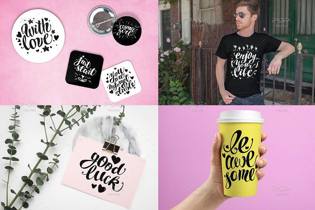 وکتور تایپوگرافی جملات عاشقانه و رمانتیک انگلیسی مناسب برای طرح های گرافیکی