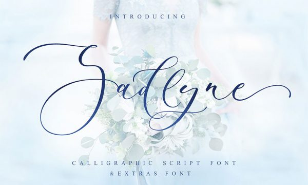 فونت انگلیسی زیبای Sadlyne مناسب جهت استفاده در طراحی و گرافیک