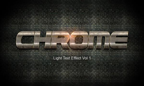 مجموعه 10 استایل براق و روشن فلز کروم برای فتوشاپ با فرمت PSD , ASL