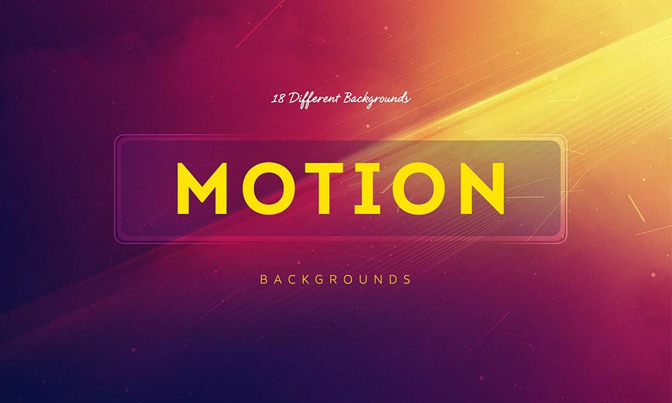 مجموعه 18 موشن بک گراند با کیفیت بالا مناسب برای طراحی Motion Background
