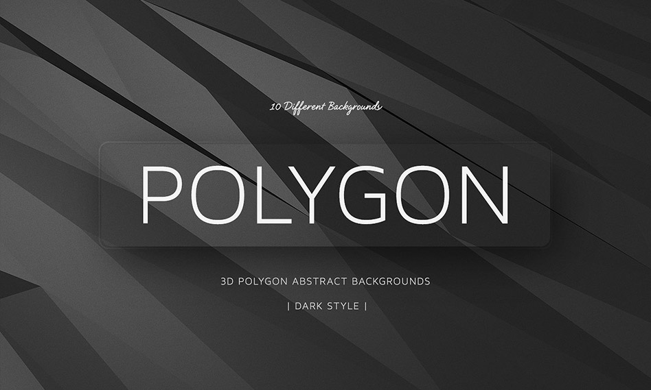 مجموعه 10 بک گراند سه ضلعی سه بعدی با استایل تیره Polygon Backgrounds Dark