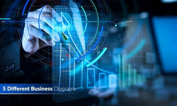 مجموعه 5 تصویر استوک نمودار انتزاعی در کسب و کار و بیزینس های مختلف