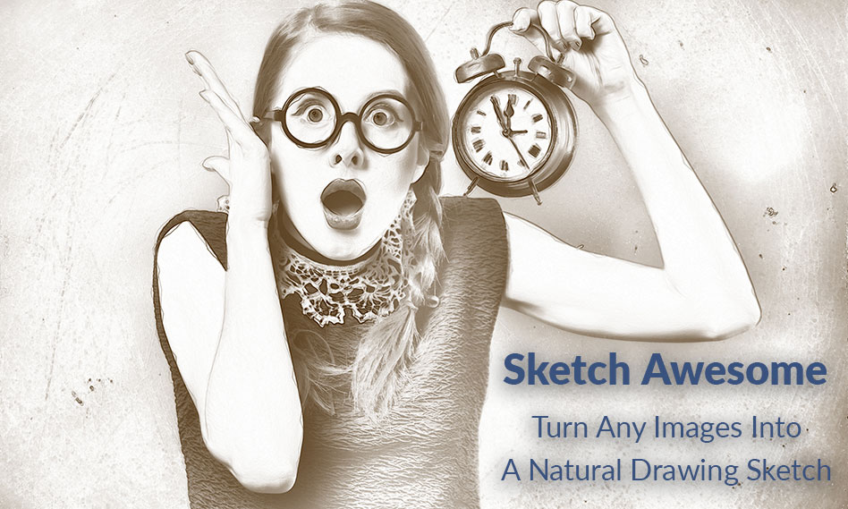 تبدیل عکس به نقاشی در فتوشاپ با اکشن Sketch Photoshop Action