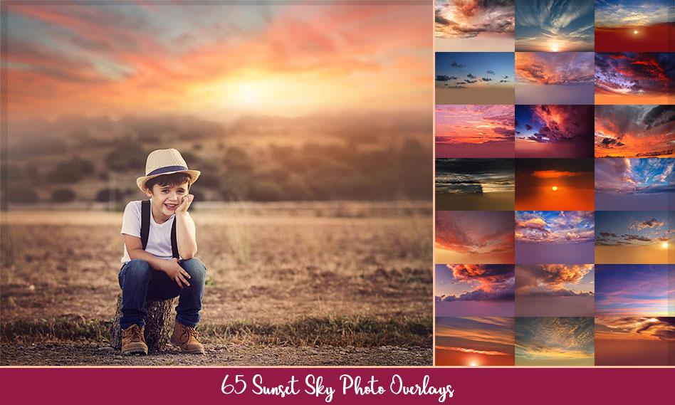بیش از 60 افکت غروب خورشید و آسمان ابری برای عکس و تصاویر با کیفیت بالا