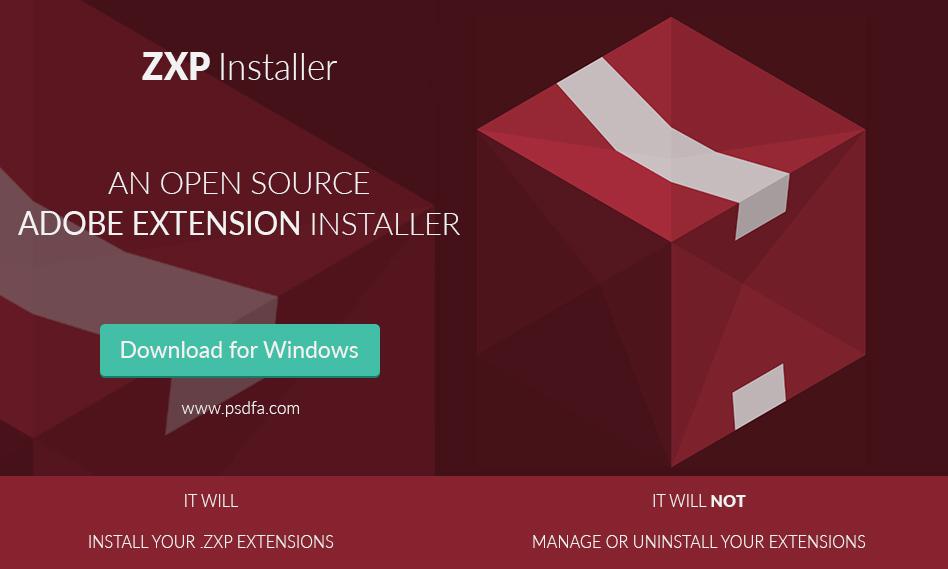 نرم افزار نصب پلاگین در فتوشاپ و نرم افزارهای ادوبی برای ویندوز ZXP Installer