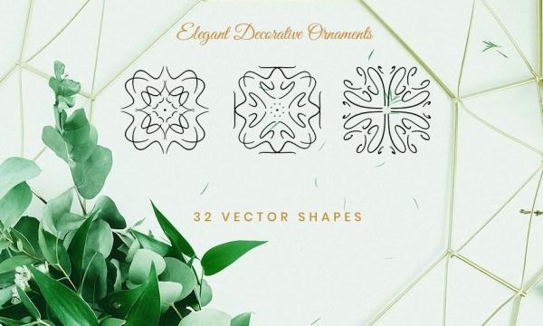 مجموعه تصاویر وکتور اشکال و عناصر تزئینی فوق العاده زیبا مناسب برای طراحی