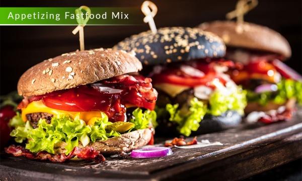 مجموعه 7 تصویر و عکس غذای فست فود ساندویچ و همبرگر با کیفیت بالا