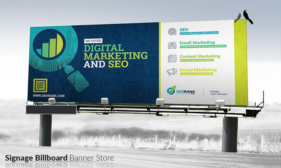 طرح لایه باز بنر تبلیغاتی فروشگاهی بیلبوردی و استندی با فرمت PSD , EPS