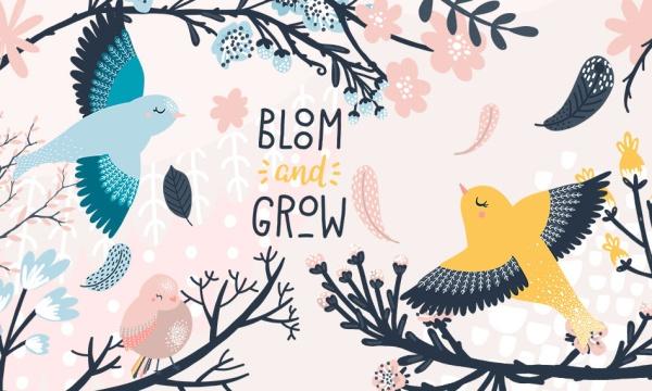 مجموعه تصاویر وکتور پرنده و شکوفه فانتزی مناسب برای طرح های گرافیکی