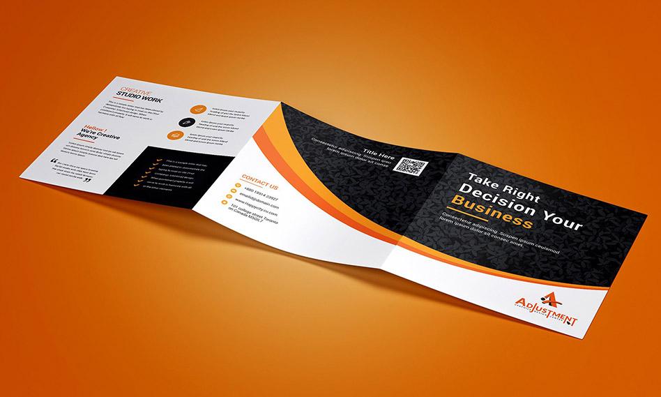 طرح لایه باز بروشور سه لت مربعی کسب و کار و بیزینس با فرمت PSD , EPS
