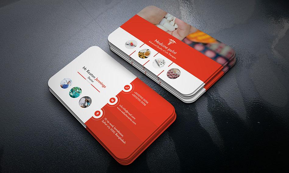 طرح لایه باز کارت ویزیت پزشکی با فرمت PSD قابل ویرایش در فتوشاپ