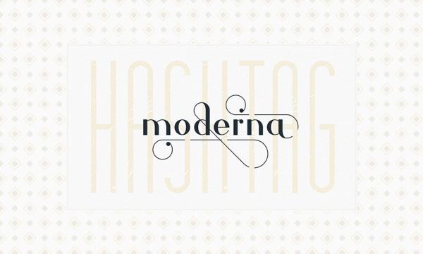 فونت انگلیسی طرح دار Hashtag Moderna مناسب برای طراحی