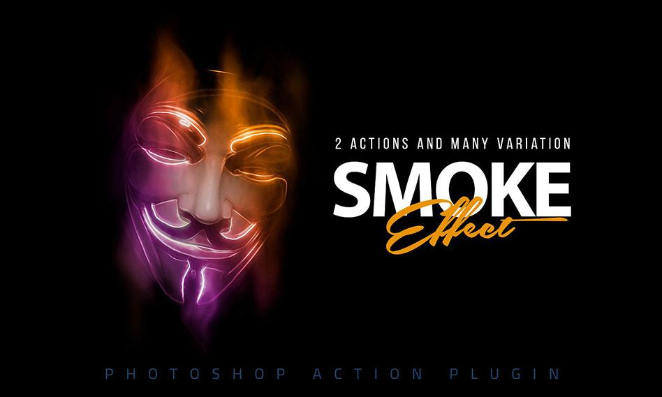 ایجاد افکت دود و مه انتزاعی بر روی تصاویر در فتوشاپ با اکشن Abstract Smoke Effect