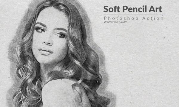 اکشن تبدیل عکس به نقاشی هنری با مداد در فتوشاپ به همراه آموزش تصویری