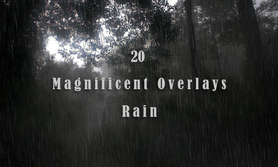 مجموعه 20 افکت بارش باران بر روی عکس و تصاویر برای فتوشاپ