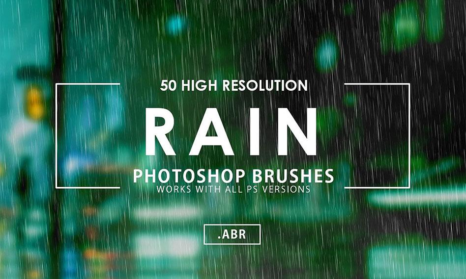 50 براش بارش باران برای فتوشاپ با رزولوشن و کیفیت بالا