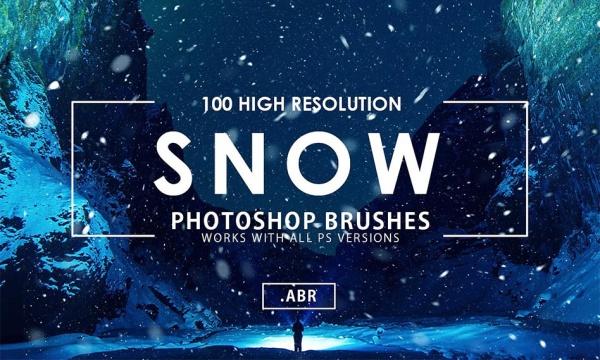 مجموعه 100 براش برف برای فتوشاپ با کیفیت و رزولوشن بالا