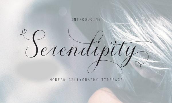 فونت دستنویس انگلیسی Serendipity مناسب برای طرح های گرافیکی