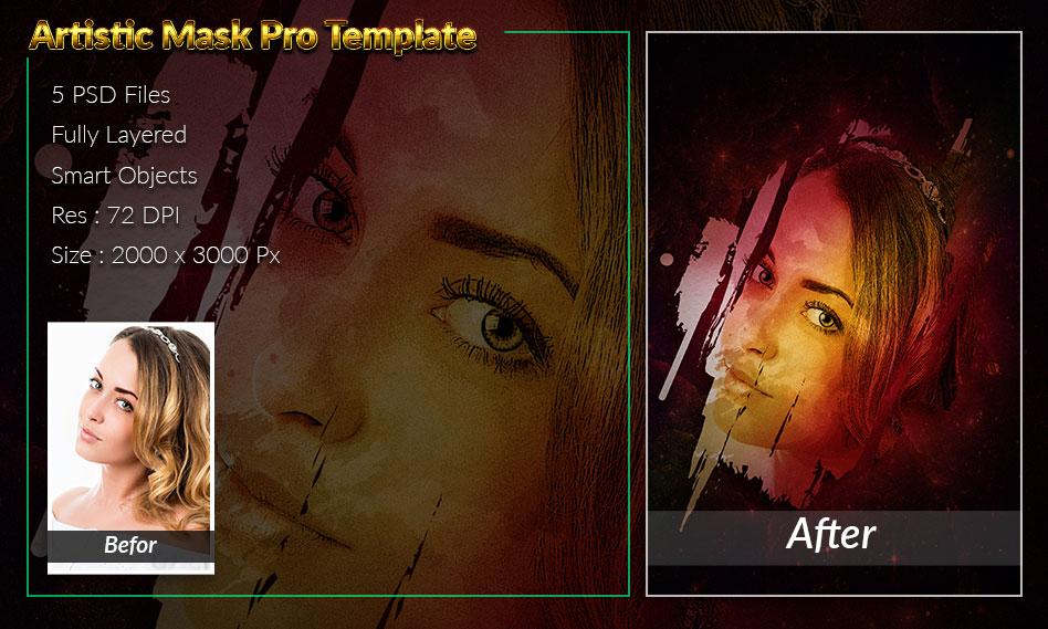 5 قالب آماده افکت هنری بر روی تصاویر به صورت لایه باز و فرمت PSD
