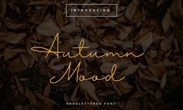 فونت دستنویس انگلیسی Autumn Mood مناسب برای طراحی و گرافیک