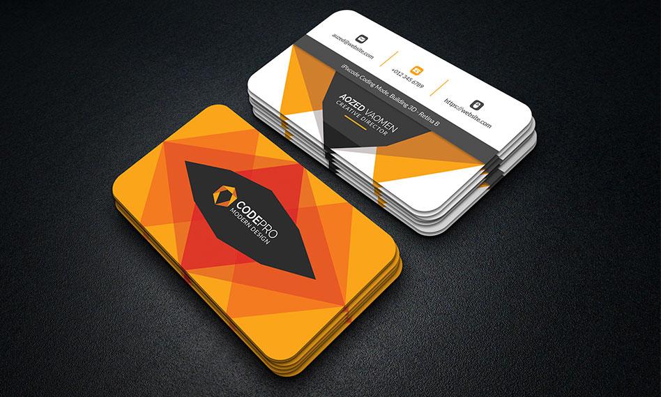 2 طرح لایه باز کارت ویزیت زیبا با فرمت PSD برای فتوشاپ