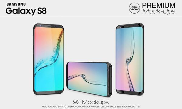 موکاپ سامسونگ گلکسی اس 8 با نمای 360 درجه Galaxy S8 Mockup