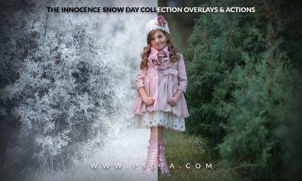 مجموعه اکشن و افکت زمستانی برف و سرما برای فتوشاپ + آموزش تصویری